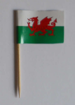Wales Country Flag Cocktail Sticks (pack of 10)